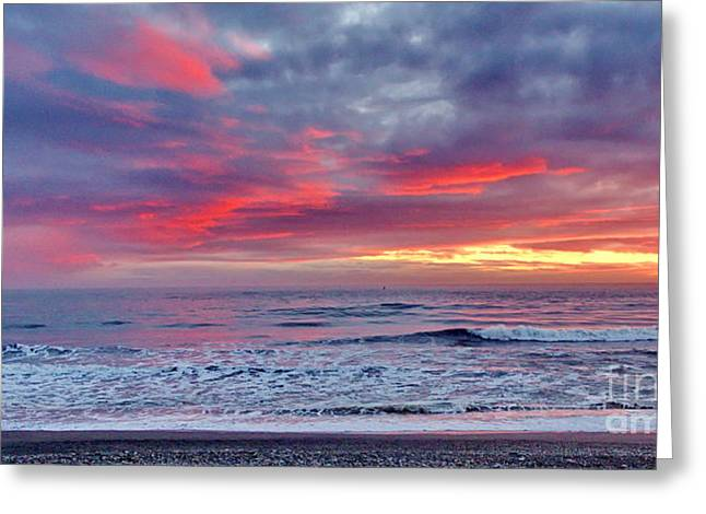 Ocean Landscape Greeting Cards - Sporthaven Sunset Greeting Card by   FLJohnson Photography