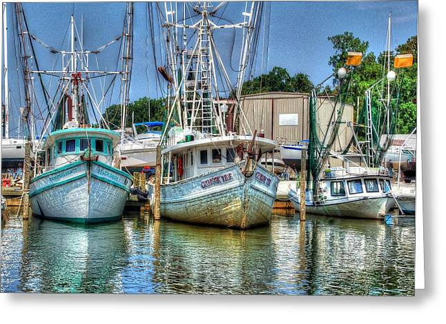 Crimson Tide Greeting Cards - Crimson Tide and Beachcomer Greeting Card by Michael Thomas