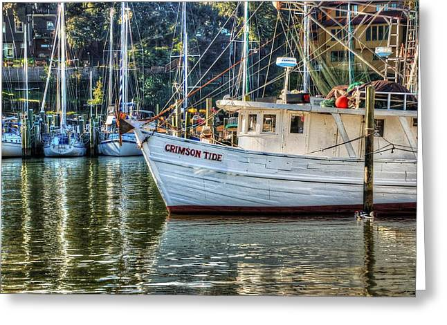 Pier Digital Greeting Cards - Crimson Tide in the Sunshine Greeting Card by Michael Thomas