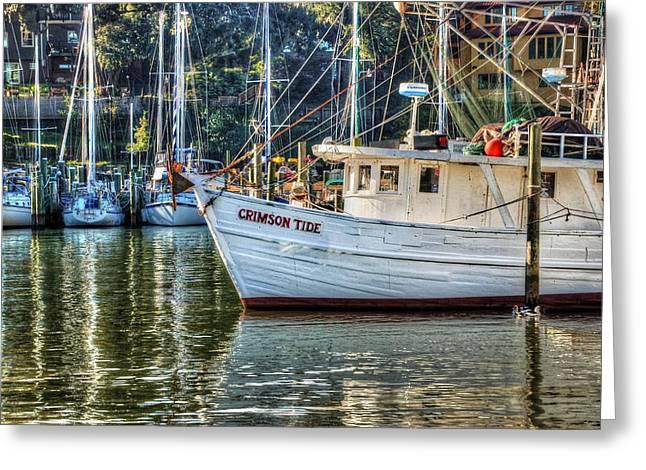 Michael Thomas Greeting Cards - Crimson Tide in the Sunshine Greeting Card by Michael Thomas