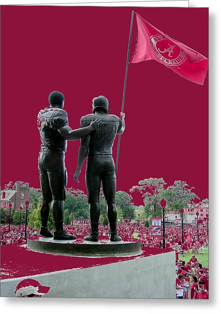 Bryant Denny Stadium Greeting Cards - Crimson Walk of Champions Greeting Card by Kenny Glover