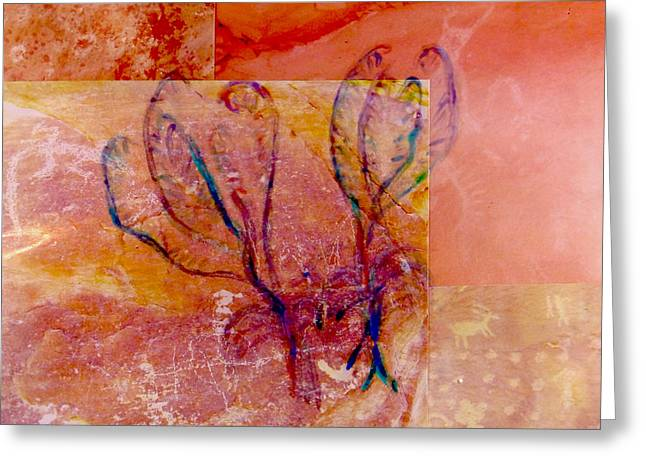 Paint Photograph Paintings Greeting Cards - Crinoid Greeting Card by Chuck Worth