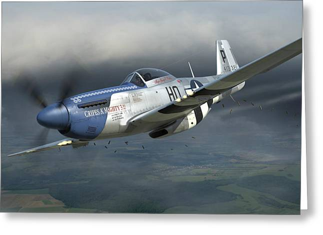 Fighter Aircraft Greeting Cards - Cripes AMighty 3rd Greeting Card by Robert Perry