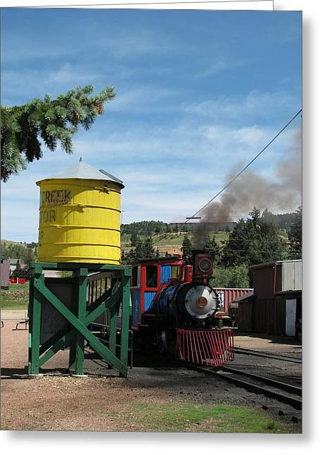 Cripple Creek Train Greeting Card by Steven Parker