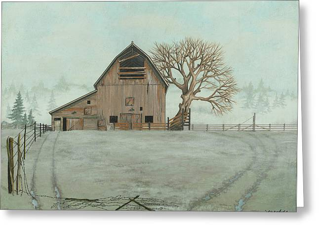 Wire Paintings Greeting Cards - Crisp Morning Greeting Card by John Wyckoff