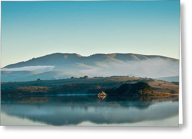 Marin County Greeting Cards - Crisp Reflections Greeting Card by Dan Wheeler