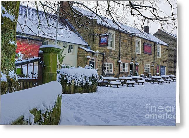Crispin Inn At Ashover Greeting Card by David Birchall