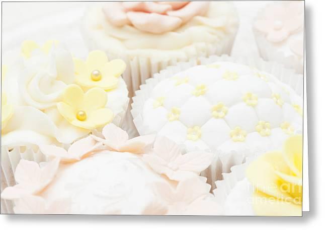 Criss-cross Cupcake Greeting Card by Anne Gilbert