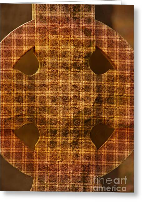 Criss-cross Greeting Card by Floyd Menezes
