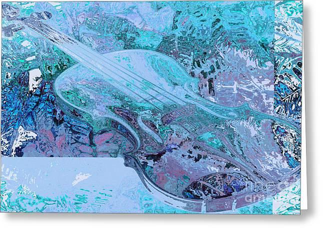 Cristal Violin Greeting Card by Moustafa Al-Hatter
