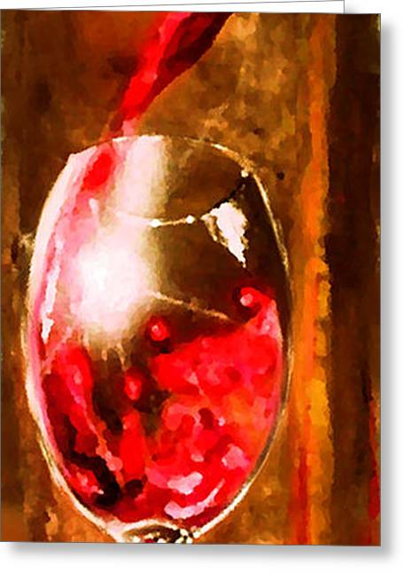 Wine Pour Digital Greeting Cards - Cristallo 2 Greeting Card by Marcello Cicchini
