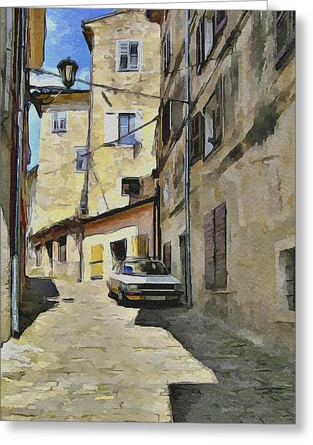 Old Town Digital Greeting Cards - Croatia Rovinj View 6 Greeting Card by Yury Malkov