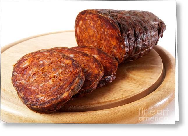 Delicatessen Meat Greeting Cards - Croatian kulen Greeting Card by Sinisa Botas