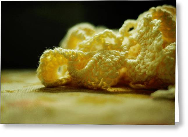 With Love Photographs Greeting Cards - Crocheted Sunshine Greeting Card by Rebecca Sherman