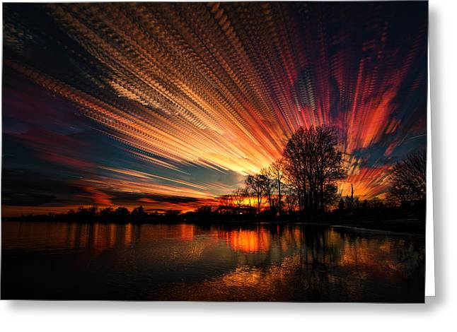 Crocheting The Clouds Greeting Card by Matt Molloy