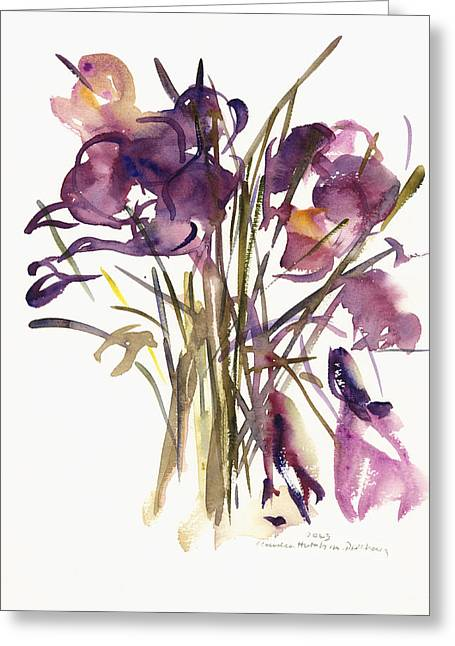 Crocus Flower Greeting Cards - Crocus Greeting Card by Claudia Hutchins-Puechavy