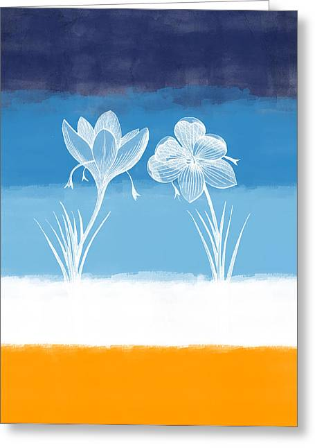 Crocus Greeting Cards - Crocus flower Greeting Card by Aged Pixel