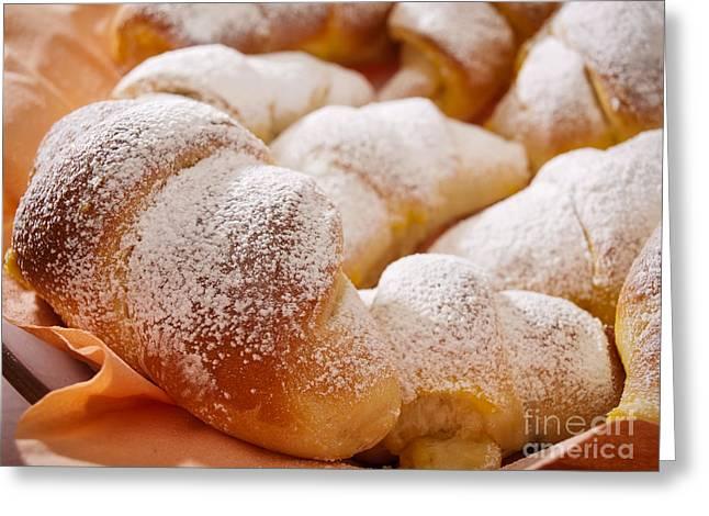 Croissant Greeting Cards - Croissant Greeting Card by Sinisa Botas
