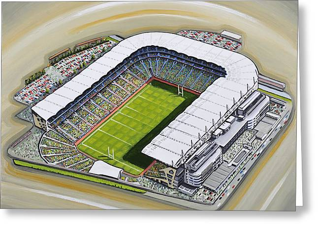 Stadia Greeting Cards - Croke Park Greeting Card by D J Rogers