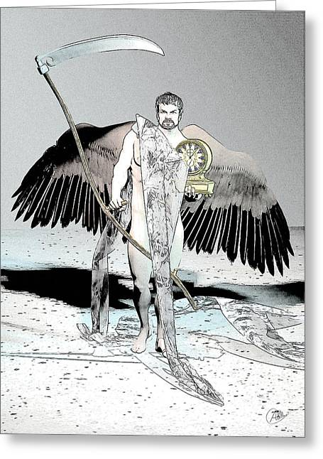 Gay Male Drawings Greeting Cards - Cronus By Quim Abella Greeting Card by Joaquin Abella