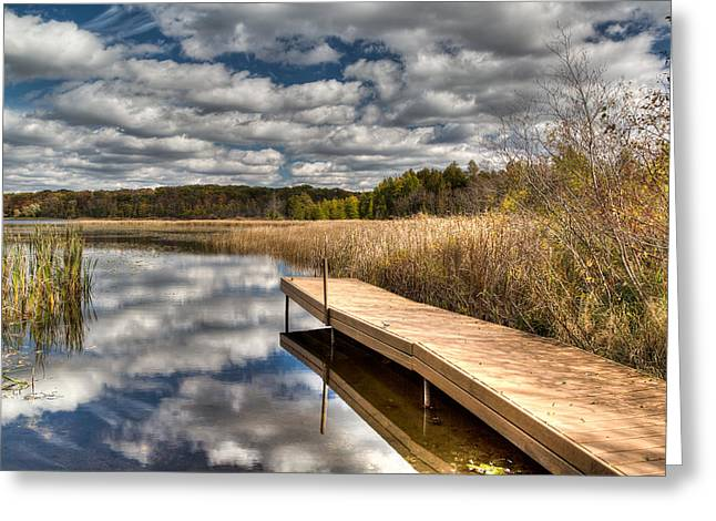 Kettle Moraine Greeting Cards - Crooked Lake Launch Greeting Card by Jeffrey Ewig