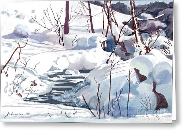 Joan A Hamilton Greeting Cards - Crooked Little Creek Greeting Card by Joan A Hamilton