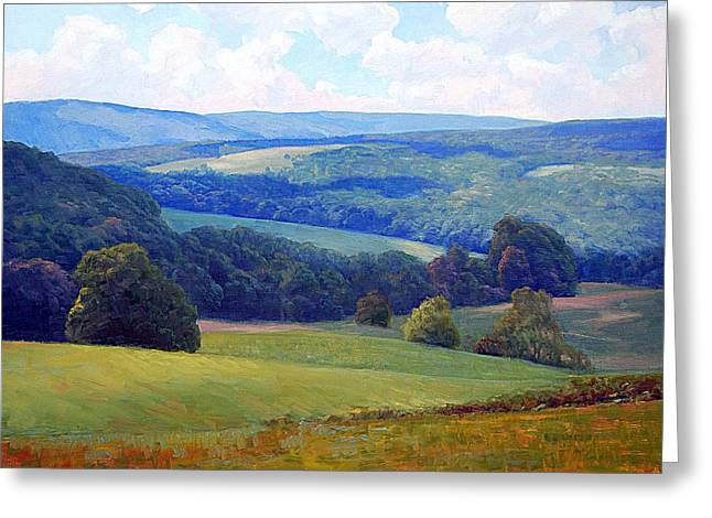 Crooked Greeting Cards - Crooked Run Valley Greeting Card by Armand Cabrera