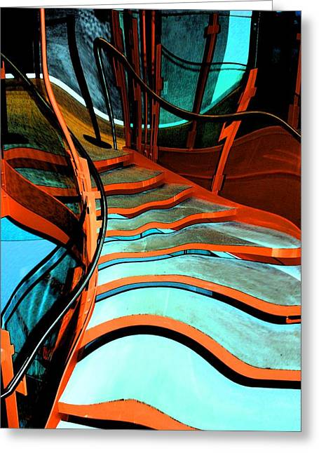 Experiment Greeting Cards - Crooked Stairs Greeting Card by Marcia Lee Jones
