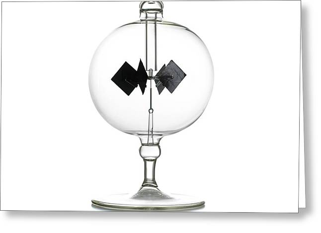 Crookes Radiometer Greeting Card by Science Photo Library