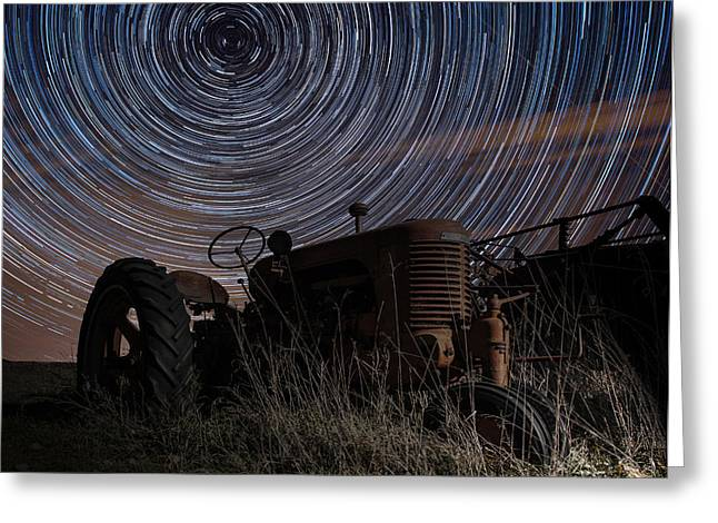 Rotation Photographs Greeting Cards - Crop Circles Greeting Card by Aaron J Groen