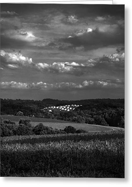 Mt. Airy Greeting Cards - Crop Deveopment Greeting Card by Michael Berry
