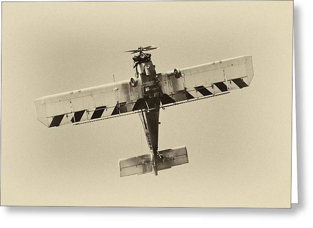 Crop Dusters Greeting Cards - Crop duster 1 Greeting Card by Patrick M Lynch