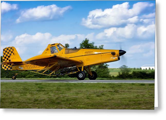 Crop Dusters Greeting Cards - Crop Duster Greeting Card by Mountain Dreams