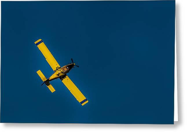 Air Tractors Greeting Cards - Crop Dusting 4 Greeting Card by Gej Jones