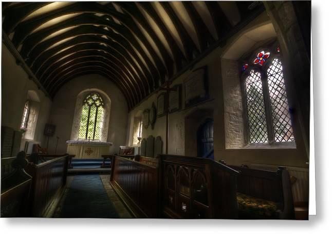 Sacred Digital Greeting Cards - Cropwell Bishop Greeting Card by Nathan Wright