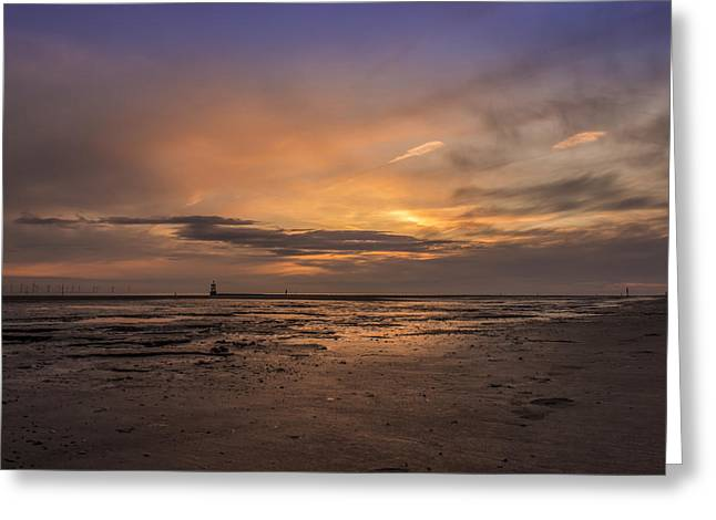 Crosby Greeting Cards - Crosby Beach after sunset Greeting Card by Paul Madden
