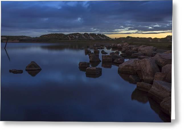 Crosby Greeting Cards - Crosby Marina Boating Lake Greeting Card by Paul Madden