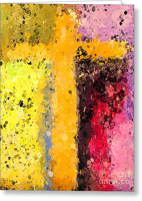Religious work Digital Greeting Cards - Cross Abstract IV  Greeting Card by Heidi Smith