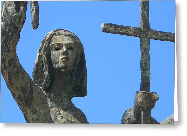 Rogativa Greeting Cards - Cross Against The Sky Greeting Card by Loretta Cassiano