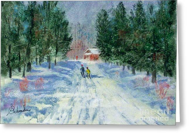 Winter Park Pastels Greeting Cards - Cross Country at Blackwater Greeting Card by Bruce Schrader