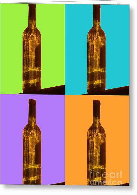 Wine Reflection Art Greeting Cards - Cross Eyed Greeting Card by Lynne Sutherland