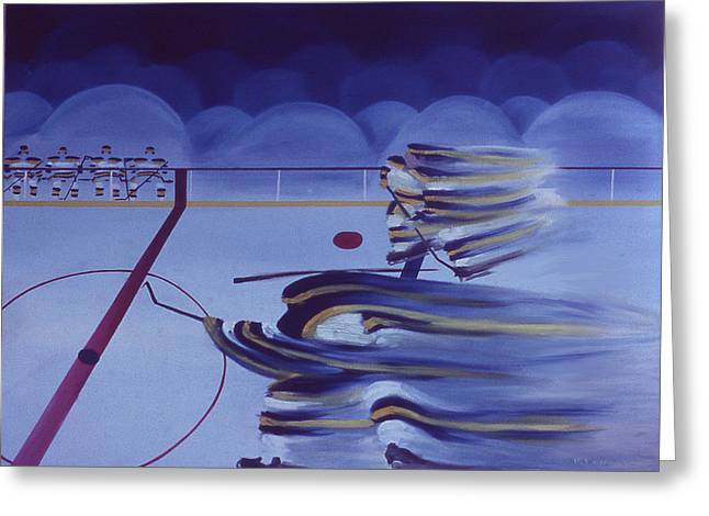 Cross Ice Pass Greeting Card by Ken Yackel