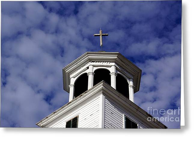 Reverence Greeting Cards - Cross in the Sky Greeting Card by Kerri Mortenson