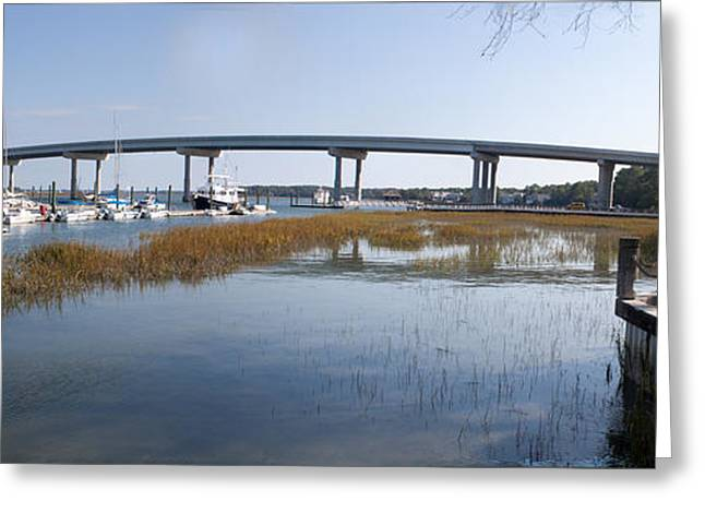 Thomas Marchessault Greeting Cards - Cross Island Bridge Hilton Head Greeting Card by Thomas Marchessault