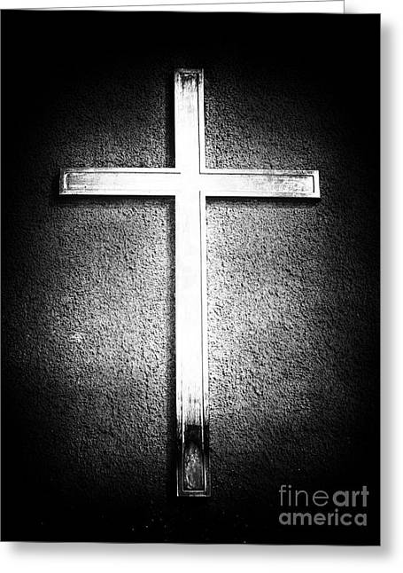 Peter Art Prints Posters Gallery Greeting Cards - Cross Greeting Card by John Rizzuto