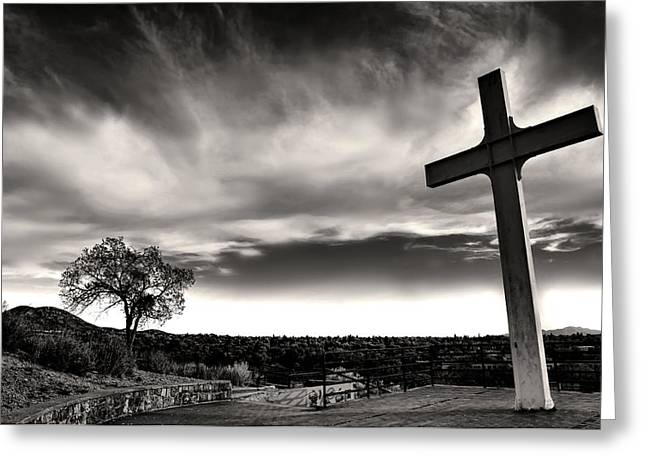 The Hills Greeting Cards - Cross of the Martyrs Greeting Card by Diana Angstadt
