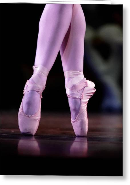 Ballet Dancers Greeting Cards - Cross Pointe Greeting Card by Lone  Dakota Photography