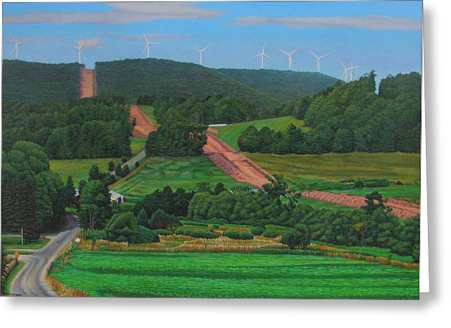 Budget Paintings Greeting Cards - Cross Roads Greeting Card by Kenneth Cobb