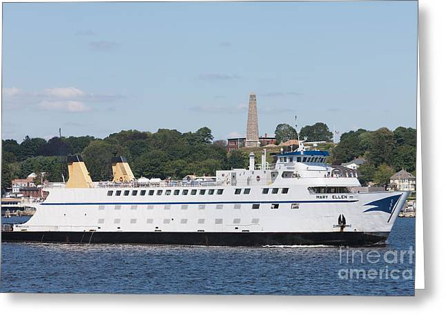 Griswold Connecticut Greeting Cards - Cross Sound Ferry Mary Ellen I Greeting Card by Clarence Holmes