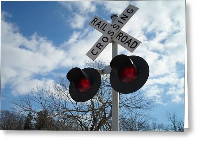 Jenna Mengersen Greeting Cards - Cross the Railroad Greeting Card by Jenna Mengersen